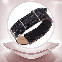 Sangle de toile, nylon bracelet Bracelet fond est en cuir véritable doux sangles 18mm 20mm 22mm 24mm montre accessoires