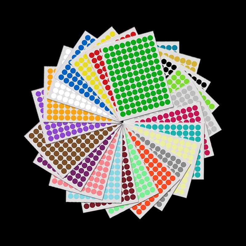 6mm Tiny Round Circle Polka Dots Sticker,120 Pcs Small Seal Vinyl