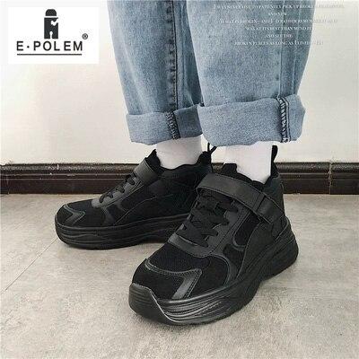 Black Hauteur Lacets Hommes Mode Respirant Croissante La Chaussures Baskets Noir Décontracté De À Confortables Sport xoeWrCBd