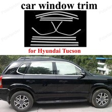 Stainless Steel Window Frame Decoration Trim  Car Styling Exterior Accessories For H-yundai Tucson