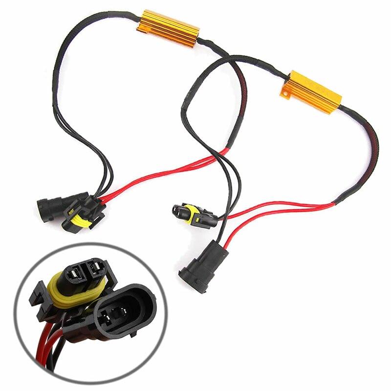 H8 H11 LED Light Canbus Load Resistor Flicker Decoders Warning Canceler Harness