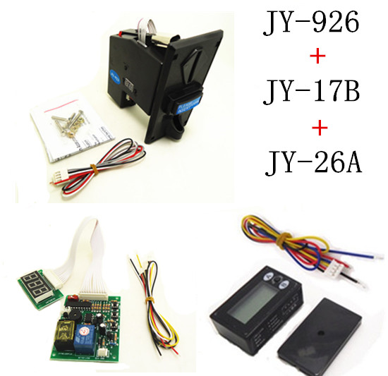 926+17B+26A coin operated time control device for cafe kiosk, multi coin selector with timer board and reset counter