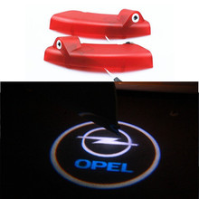 promotion no drilling led car door logo light 3d led welcome logo light car led door light for opel antara plug and play