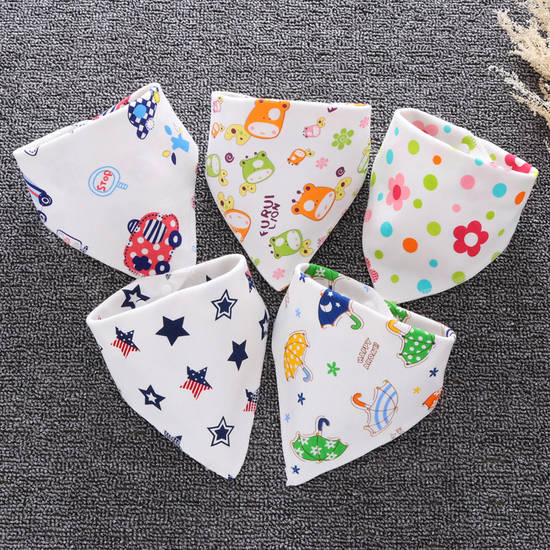 Baby Bibs Cotton Infant Feeding Towel Bibs Cartoon Newborn Girls And Boys Toddler Triangle Scarf Bandana Cute Burp Cloths