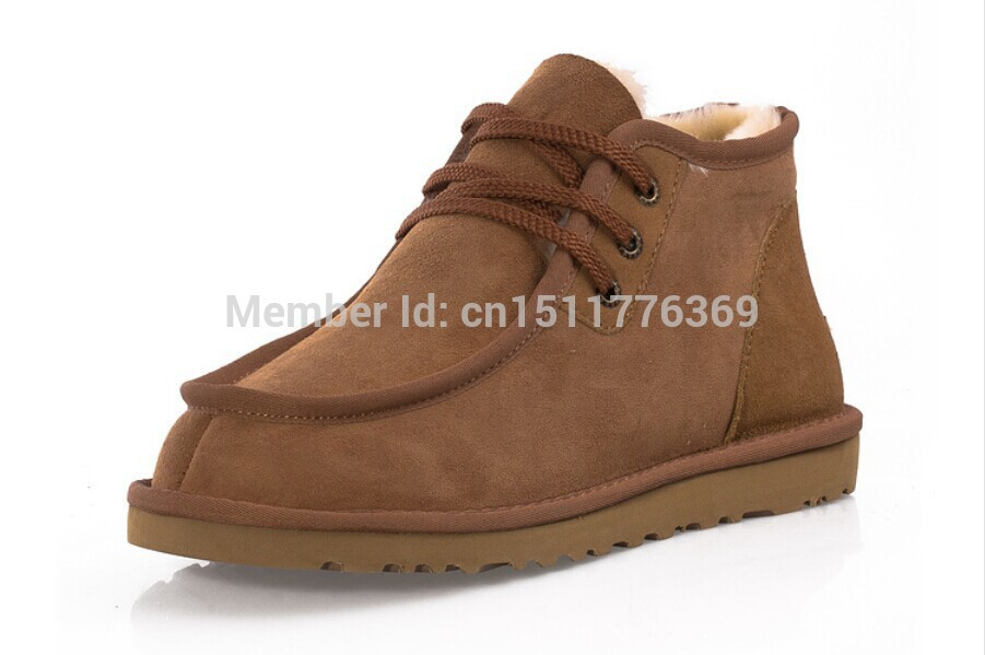 EUR39 44 HOT 5866 Men snow boots as David Beckham Brand Box Logo Best  Quality Genuine Leather Fashion Winter Shoes Free shipping-in Snow Boots  from Shoes on ... df19f03bf