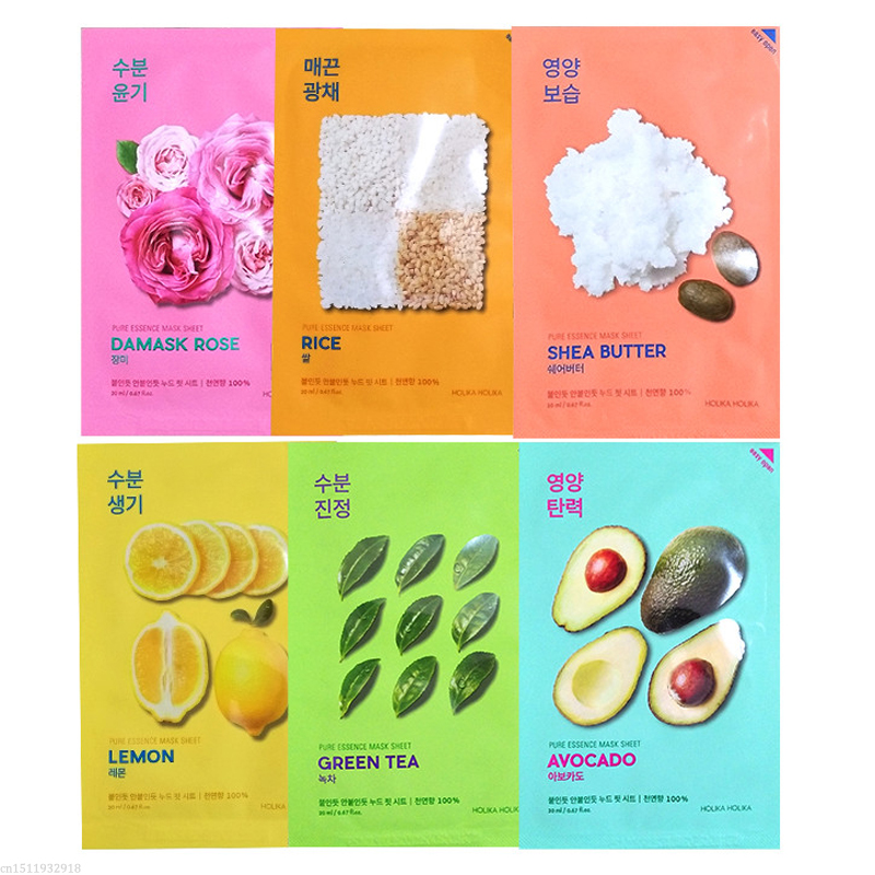 Holika Holika Natural Pure Essence Sheet Mask Face Mask Whitening Moisturizing Anti Wrinkle Facial Mask Korea Skin Care Product
