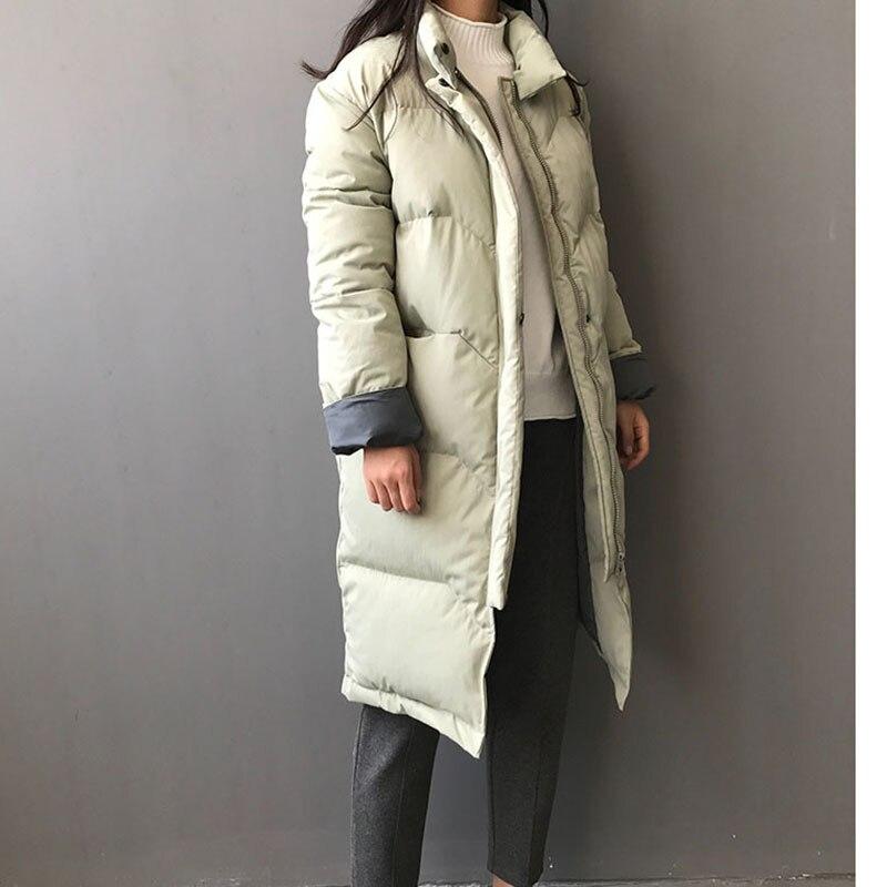 Apricot Nouvelle Manches green Bat Longue 2018 Et Coton Le Moyen Mode Manteaux black Vers Bas Section Vêtements Hiver Femme Lâche ZqS5SwT