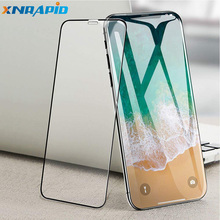 9D shockproof tempered glass is suitable for iPhone X XS Max XR 6 6s 7 8 Plus with a strong protective screen film