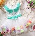 Bebé Vestidos de Fiesta para Niñas de Encaje Perlas Niñas Bautizo Del Vestido Del Bebé Del Tutú de Los Cabritos Los Niños Ropa de Fiesta para Niñas