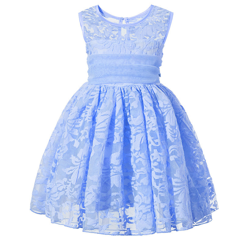 Kids Girl Ball Gown Dress baby Toddler Girl Summer Lace Dress 2 3 4 5 6 7 Year Princess Birthday Party Dress Children Clothing girls lace dress princess toddler clothes baby girl new year costume sweet summer 2017 kids flower children clothing 3 4 6 8 11y