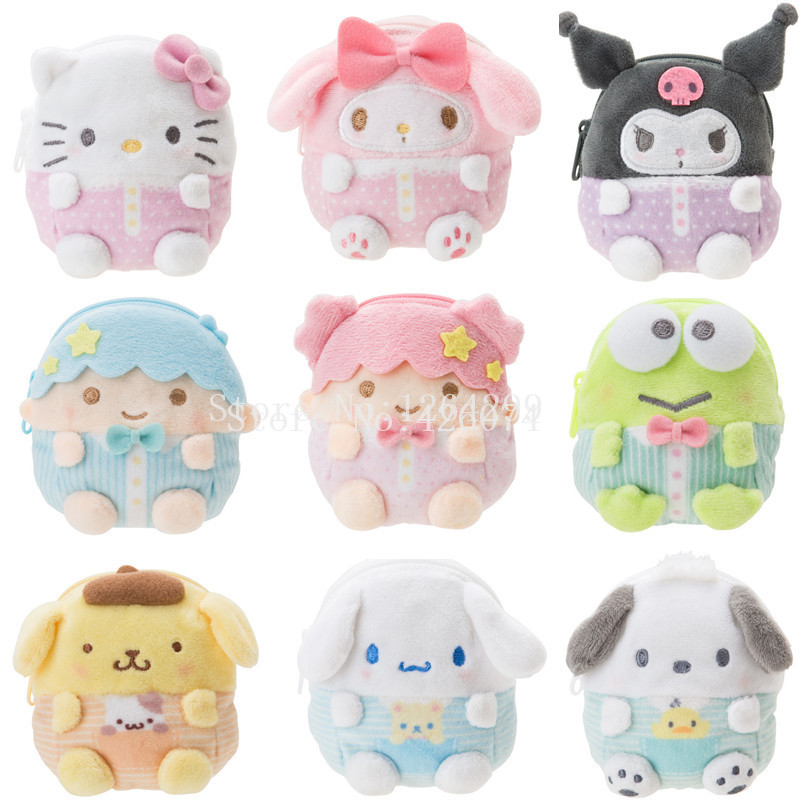 Purses Pompom Cinnamoroll Plush-Coin Kuromi Twin-Stars Girls My Melody Mini Little Kids title=
