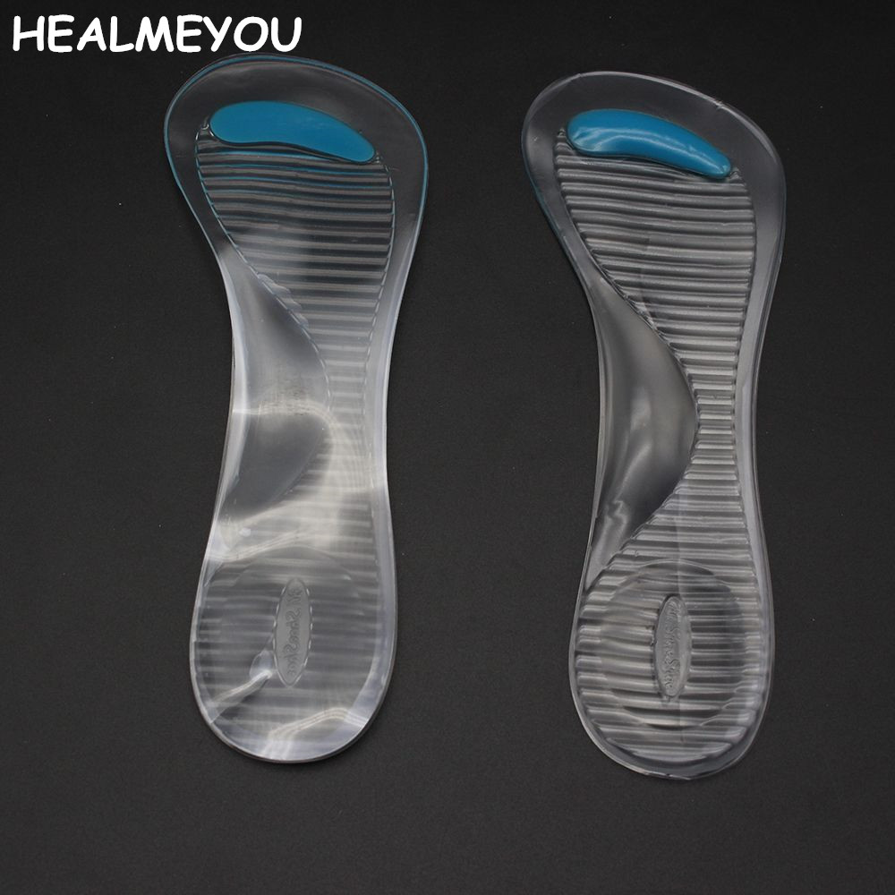 Non-Slip Women Gel 3/4 length Arch Support Anti-slip Massaging Metatarsal Cushion Orthopedic Insoles for High Heels Shoes