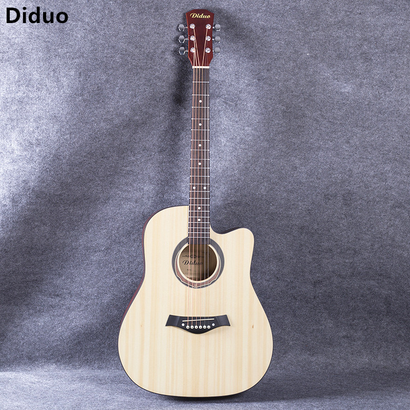 Diduo 41 Inch Acoustic Guitar Folk Basswood Six Strings Guitarra Rosewood Fingerboard Picea Asperata Panel Musical Instruments qutaa 2018 sexy over the knee high women boots thin high heel round toe platform fashion ladies pu leather boots size 34 43