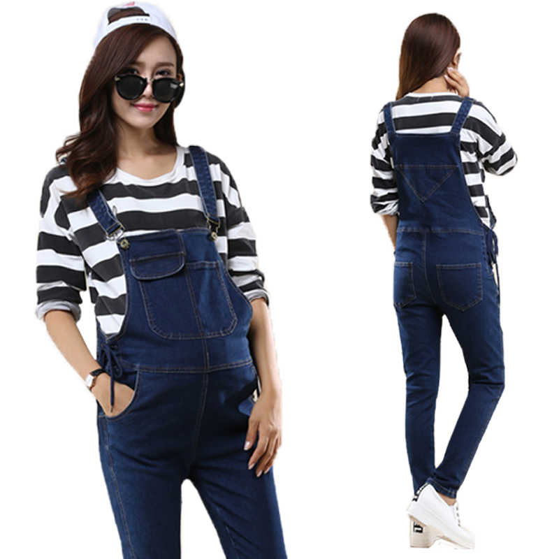 245f14678d3 Spring Maternity Women Jeans Denim Jumpsuits Casual Rompers Adjusted Bib Pants  Pregnant Overalls Belly Trousers