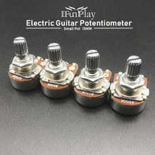2pcs A500K/250 K Potentiometer Splined Kleine Pot Elektrische Gitaar Bas Effect Amp Tone Volume 15mm As onderdelen(China)