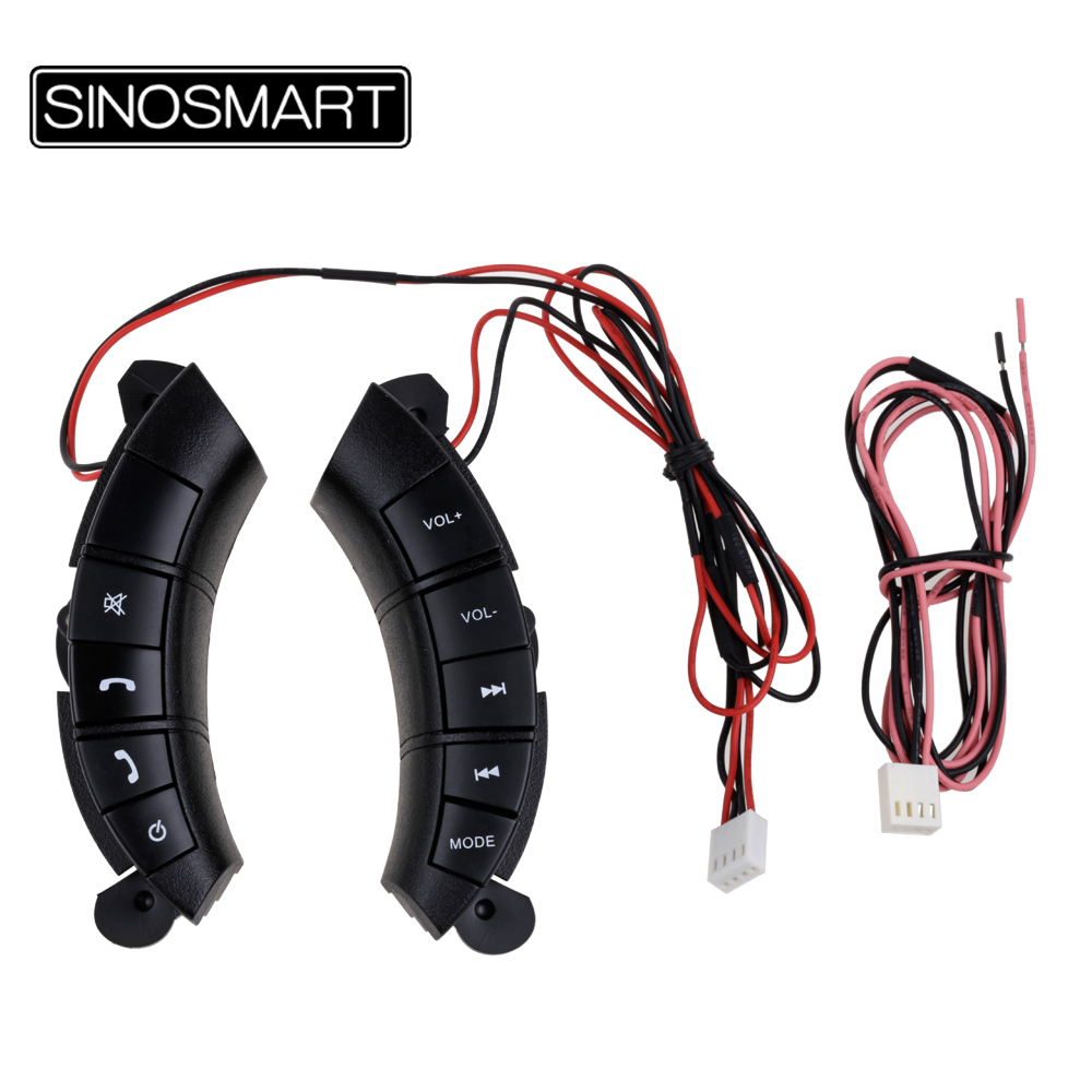 SINOSMART Multi function Remote Control Buttons For Great Wall Hover H3 H5 Steering Wheel Button Audio