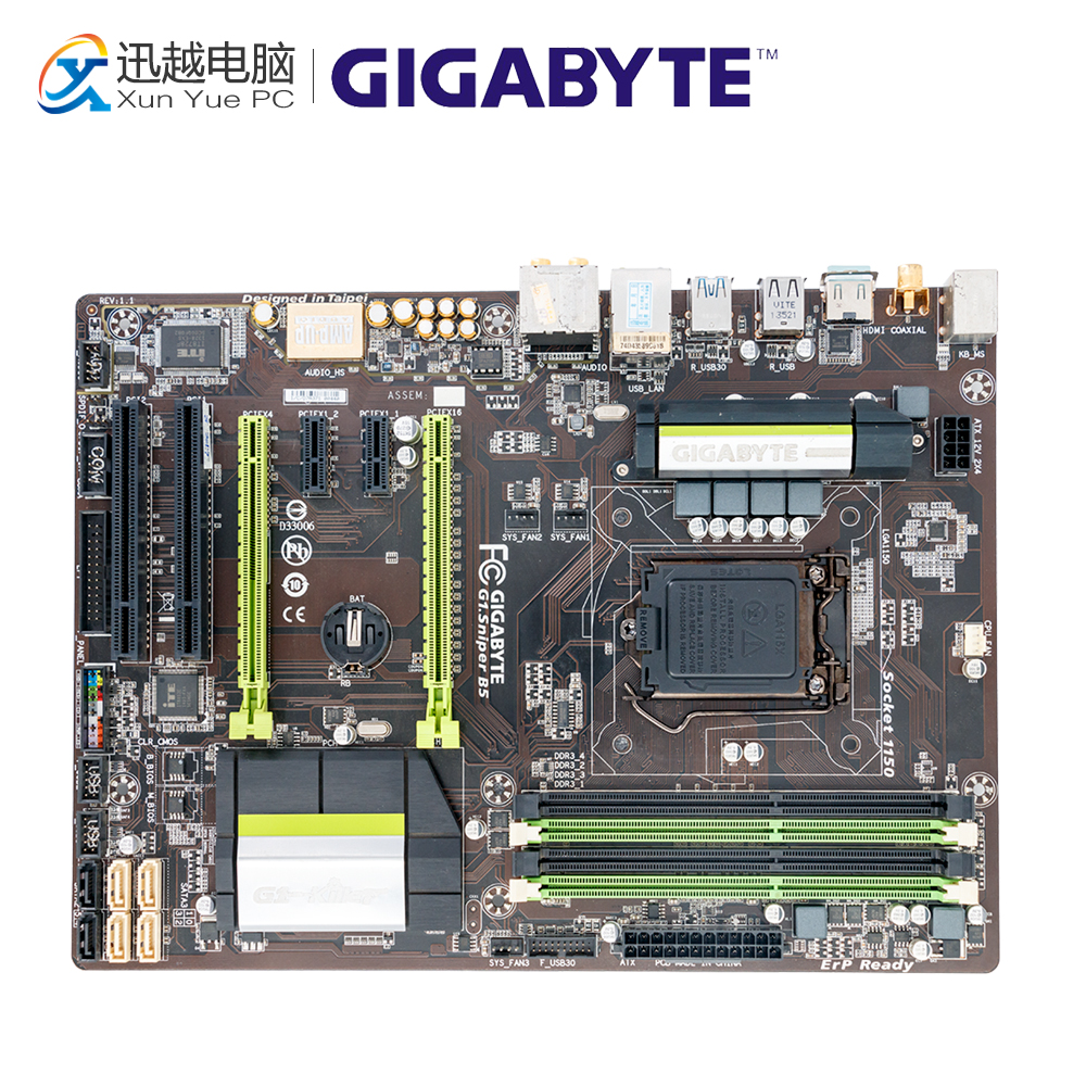 все цены на Gigabyte GA-G1.Sniper B5 Desktop Motherboard G1.Sniper B5 B85 LGA 1150 i3 i5 i7 DDR3 32G ATX онлайн