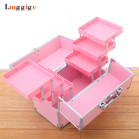 Cosmetic Bags,Makeup Case,Nails Kit,Beauty Box ,PVC Travel Toolbox ,32*26.5*19cm Cabin Suitcase