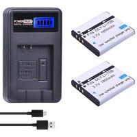 2 Pcs LI-70B Li-70B Li 70B Baterias e Carregador USB LCD para Olympus VG110 VG120 VG-140 VG-160 FE-4020 FE-4040 X-940 D-715 VR-130