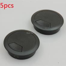 5 шт. отверстие Пластик домашний стол компьютерный кабель Шнур прокладка черный