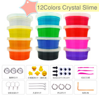 12 Colores/set Limo Cristal niños Fimo Arcilla Polimérica Plastilina Magia limo Limo Inteligente Juguetes Educativos BRICOLAJE