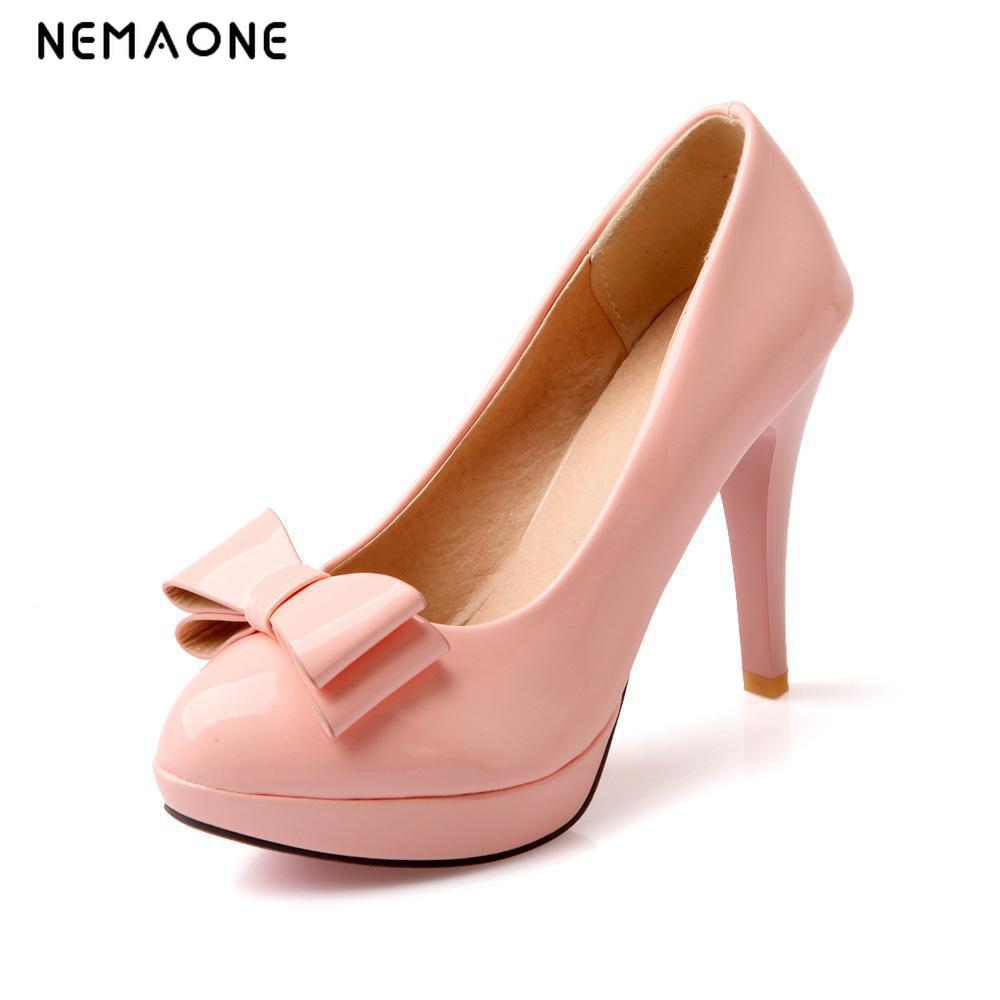 NEMAONE New Women Pumps Princess thin Heel Spring Women's Big size 34-43 Shoes High Heels Platform Round Toe Single Shoes  big size eur 34 50 thick heels round toe single shoes spring autumn high heel women shoes fashion pumps lace up low shoes ox119