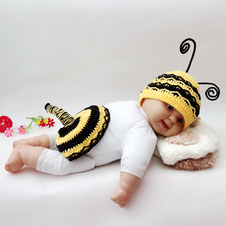 8ef9ccd1e newborn crochet outfits baby bee costume kids photography props ...