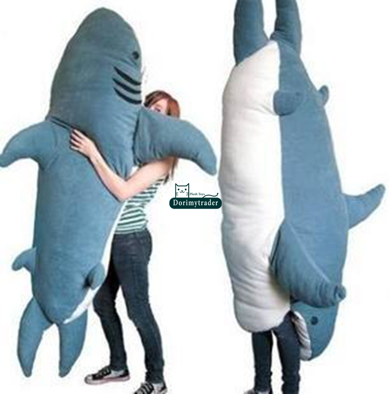 Dorimytrader Cartoon Animal Shark Beanbag Giant Plush Soft
