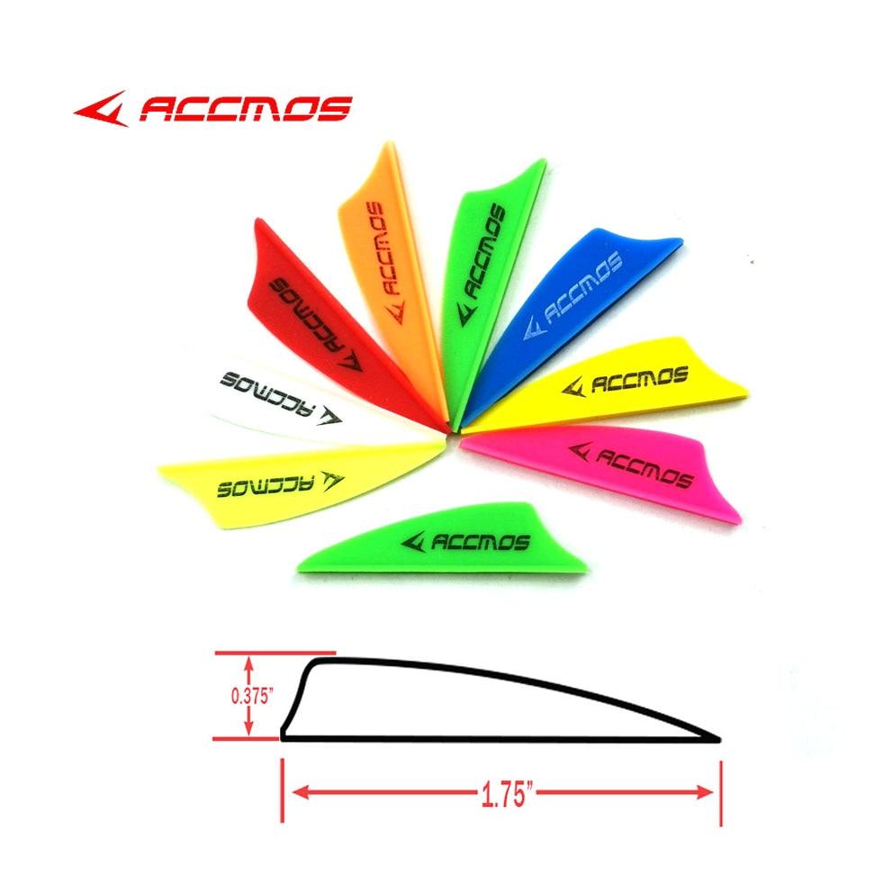 60pcs Archery 1.75'' Plastic Arrow Vanes Feather Accessories For Carbon Arrow Shaft Arrow DIY Shooting Hunting