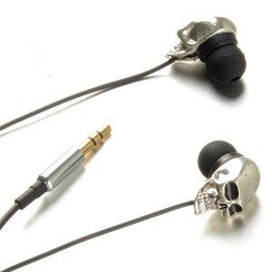 Image 3 - Écouteurs intra auriculaires pour téléphone stéréo basse casque tête de crâne 3.5mm Port métal filaire écouteurs pour Huawei Samsung Xiaomi SmartPhone