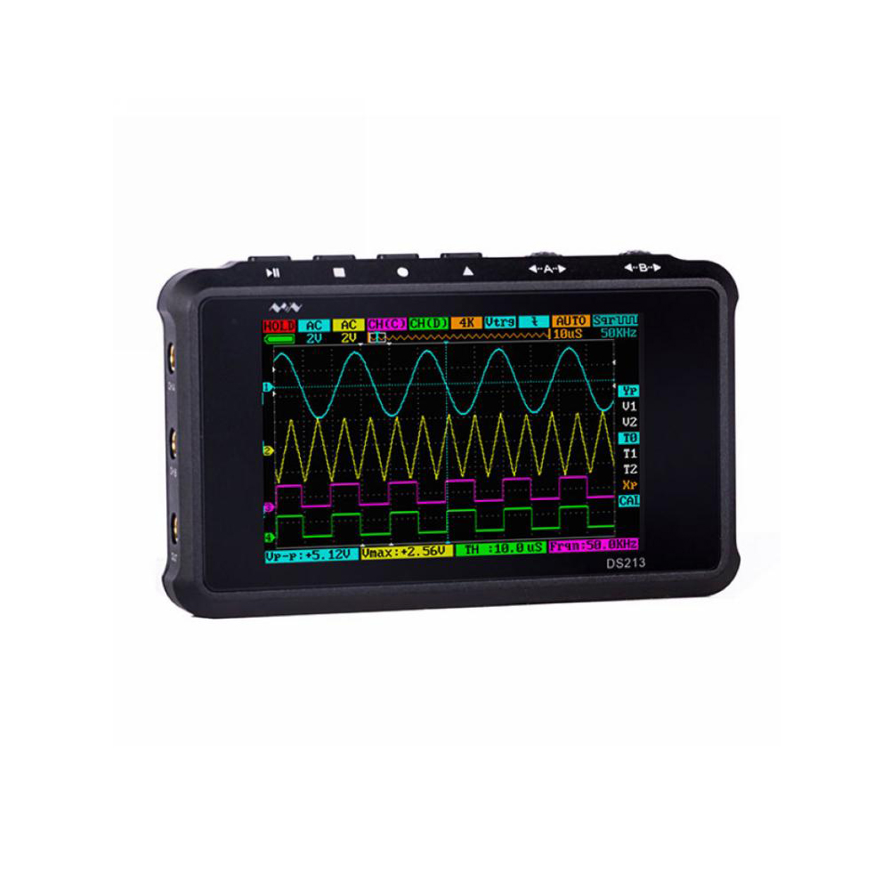 2019 Mini DS213 Pocket Oscilloscope 4 Channels 15MHz Analog Bandwidth Upgraded DS203 Micro USB Oscilloscope 100Msa
