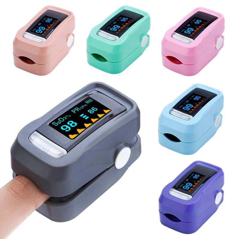 Medical Portable Finger Pulse Oximeter De Pulso De Dedo Fingertip Pulse Oximeter Pulsioximeter LED Heart Rate Monitor
