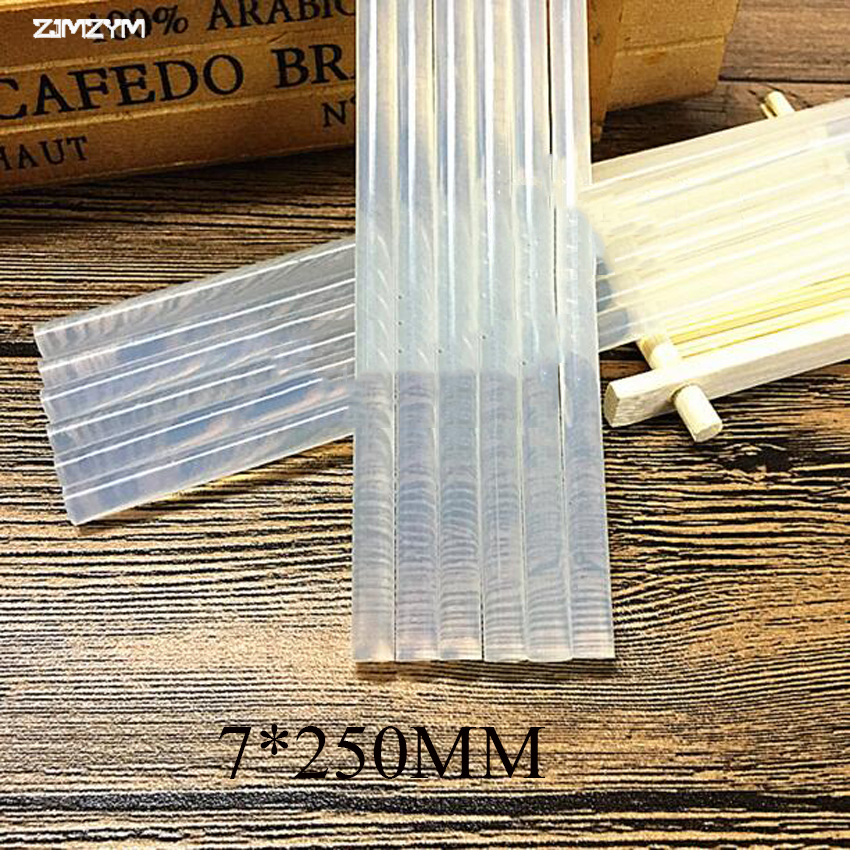 1PC 7mm Hot Melt Glue Stick For Heat Glue Gun High Viscosity 7x250mm Adhesive Glue Stick Repair Tool Kit DIY Hand Tool
