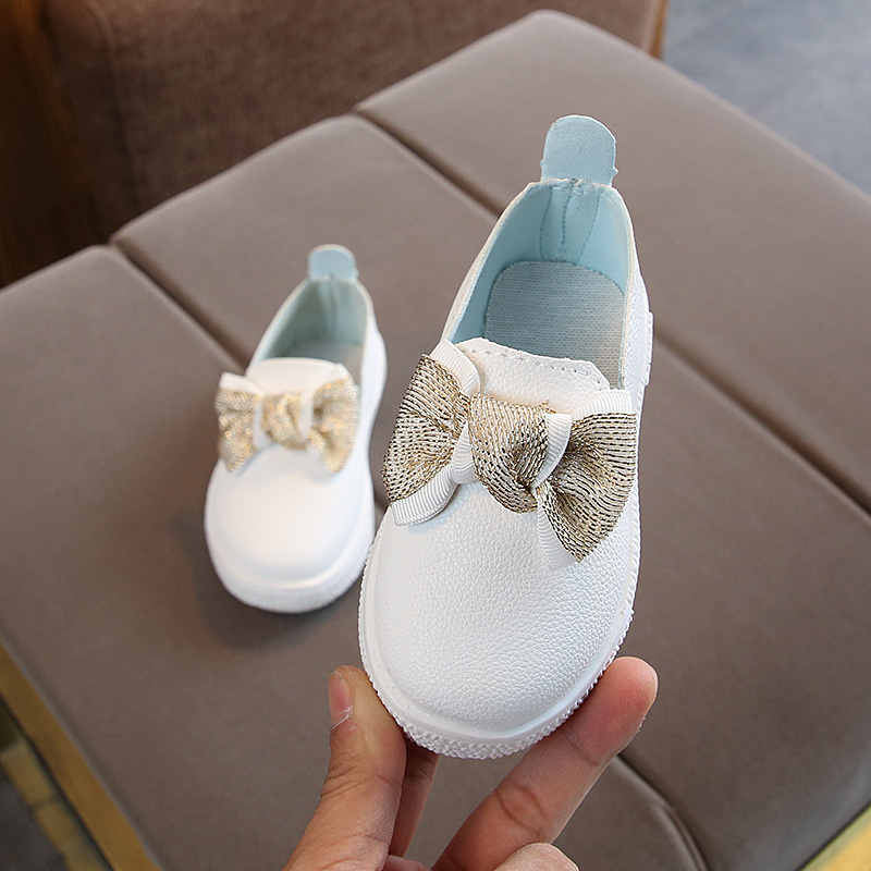 Children Shoes Girls Boys Sport Shoes Antislip Soft Bottom Kids Baby Sneaker Casual Flat Sneakers White Shoes For Girl Size21-30