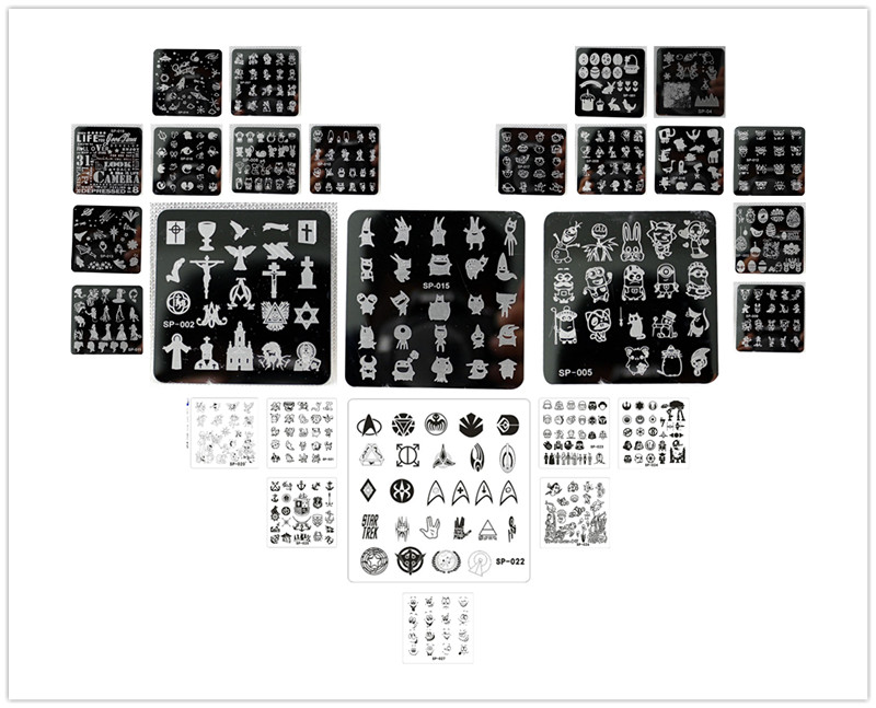 New Arrives cartoon  SP design nail art image plate Equipment Stamp Stamping Plates ManicureTemplate image art
