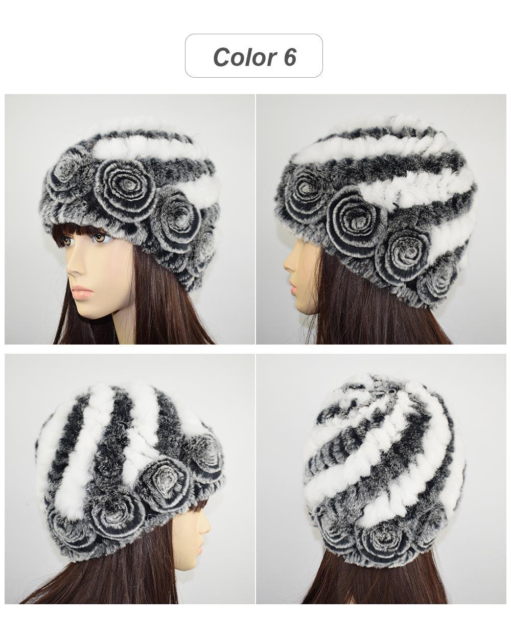 Women hat fur cap 06