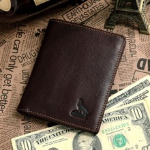 Nesitu High Quality Vertical Vintage Coffee 100% Guarantee Real Genuine Leather Men Wallets Cowhide Card Holder #M8015-2