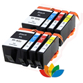 8 cartucho de tinta compatível para hp 934 935 hp934 hp935 officejet pro 6230 6830 6835 6812 6815 6820 impressora com tinta completo chip