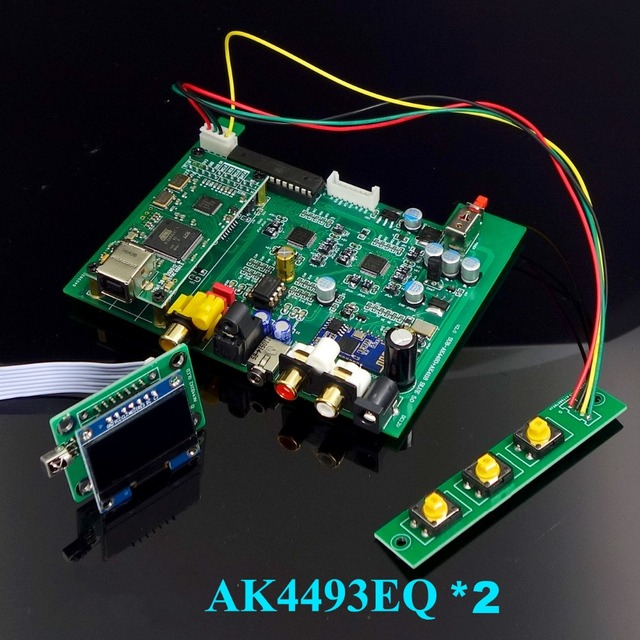 New dual core AK4493 DSD USB Optical coaxial bluetooth 5.0 audio decoder with OLED Keyboard DC 12V more than ES9038Q2M