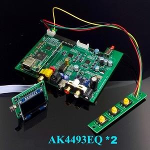Image 1 - Nieuwe Dual Core AK4493 Dsd Usb Optische Coaxiale Bluetooth 5.0 Audio Decoder Met Oled Toetsenbord Dc 12V Meer dan ES9038Q2M