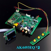 Novo duplo núcleo ak4493 dsd usb coaxial óptico bluetooth 5.0 decodificador de áudio com teclado oled dc 12 v mais do que es9038q2m