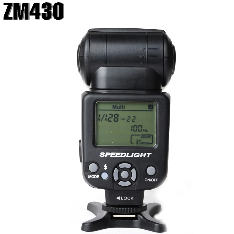 Zomei ZM430 Manual Speedlite Speedlight Flash for Canon LCD Display & Hard Photo Flash Diffuser for Nikon DSRL Cameras voking speedlite speedlight camera flash vk900 for nikon digital slr cameras