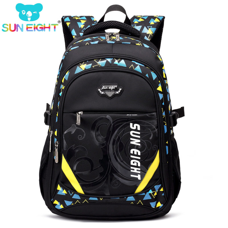 Hot Sales 5 Pockets Boy/Girl School Bag Fashion Zippers Kids Satchel Cool Boy Backpack Rucksack For Senior Students