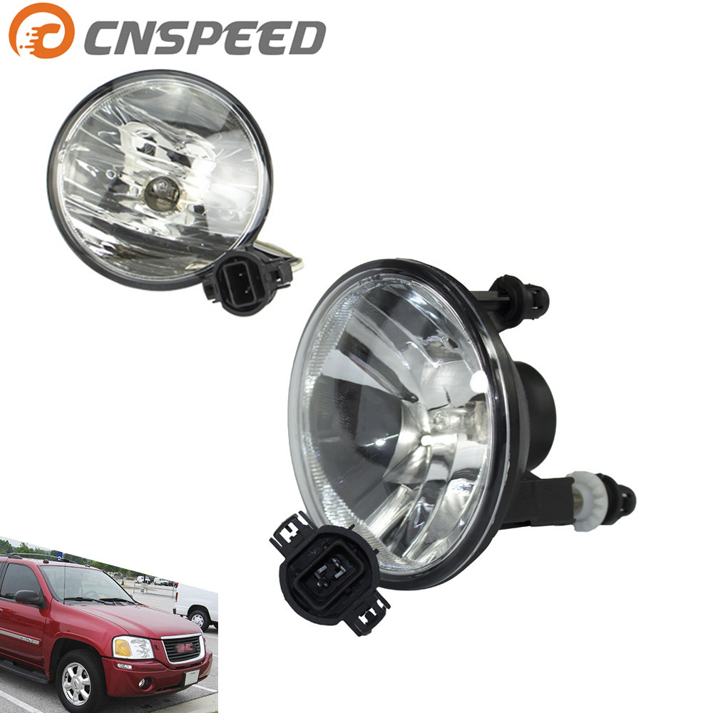 CNSPEED Fog light for Gmc 2002-2009 Envoy Xl Xuv Sle Slt Denali Left And Right fog lamps Lens Bumper Fog Lights Driving Lamps 2 pcs set car styling front bumper light fog lamps for toyota venza 2009 10 11 12 13 14 81210 06052 left right