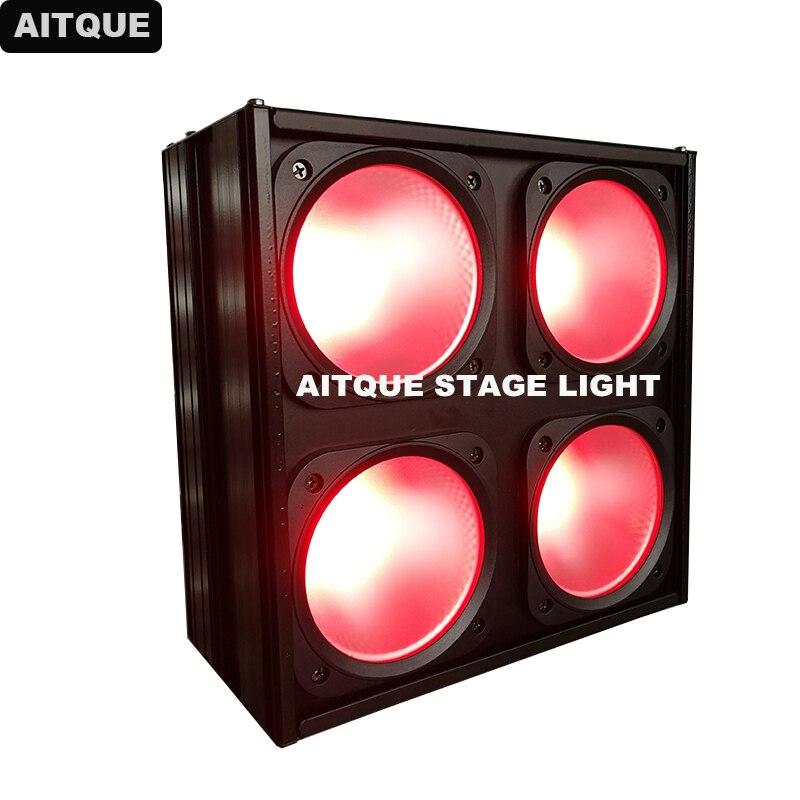 12pcs High quality DJ Portable Manual Fixture 30w COB 4 eyes blinder studio led light matrix|Stage Lighting Effect| |  - title=