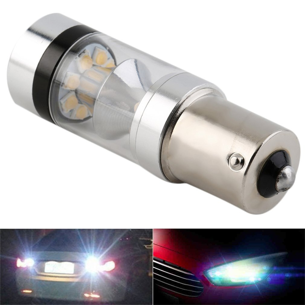 1 Piece 100W 1156 LED Reverse Vehicle Car Head Light Driving Fog 360 Degree Stop