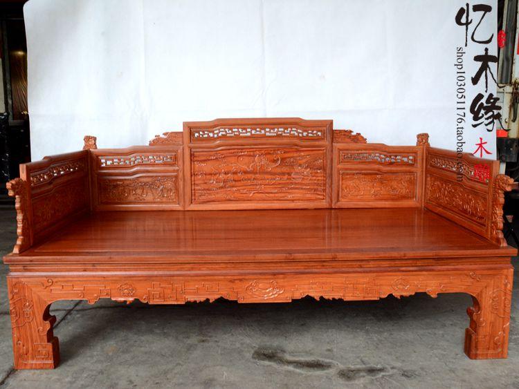Chinese Houten Bed : Dongyang palissander arhat bed massief houten meubels palissander