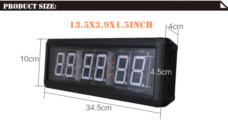 1.8 inch Remote Led Display Led Countdown Clock Count Up Countdown Timer For researched and Swim Use Stopwatch Gym Boxing gym (20)