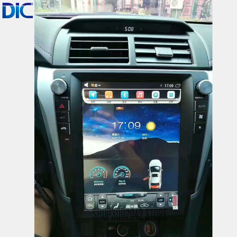 DLC Navigation GPS Car Player Android 6.0 stereo Radio Steering Wheel bluetooth USB mirror link For toyota Camry 2006 2016