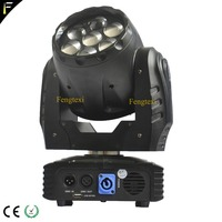 New Compact 9~50 Degree Zoom 7x12w LED Wash Moving Head Spot RGBW With IEC 10A Power Con Connect For Dj Disco Church